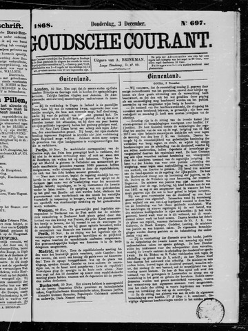 Goudsche Courant 1868-12-03