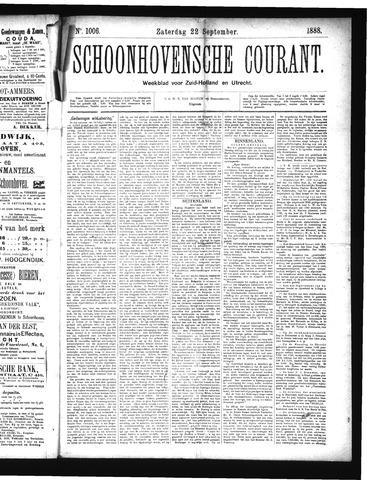 Schoonhovensche Courant 1888-09-22
