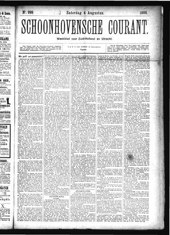 Schoonhovensche Courant 1888-08-04