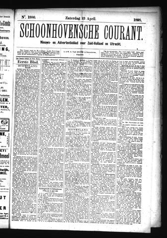 Schoonhovensche Courant 1898-04-23