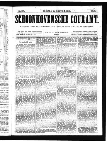 Schoonhovensche Courant 1874-09-27