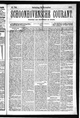 Schoonhovensche Courant 1883-11-24