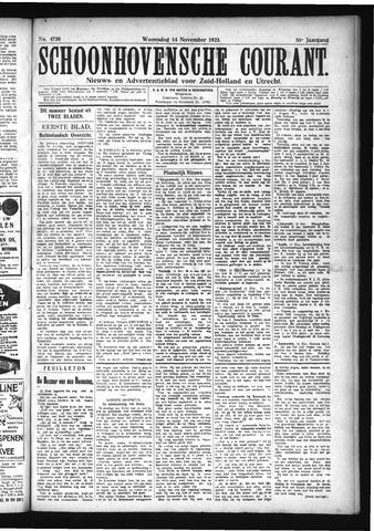 Schoonhovensche Courant 1923-11-14