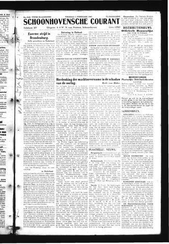Schoonhovensche Courant 1945-02-02