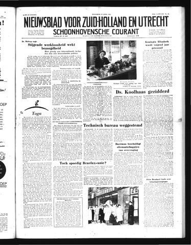 Schoonhovensche Courant 1952-04-30