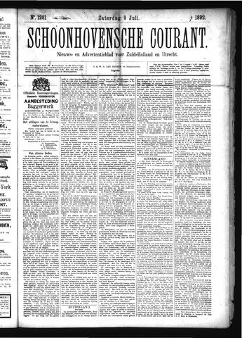 Schoonhovensche Courant 1892-07-09