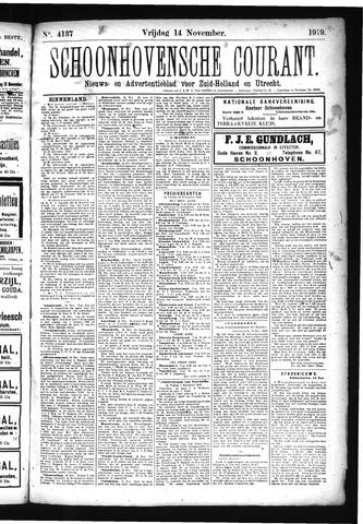 Schoonhovensche Courant 1919-11-14