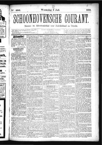 Schoonhovensche Courant 1919-07-09