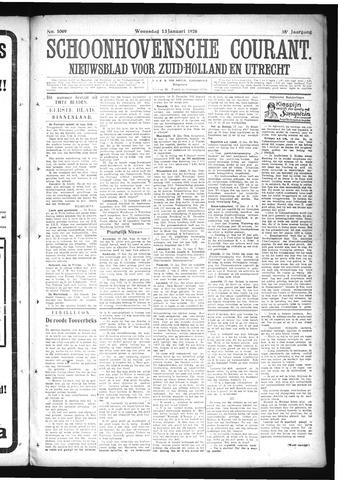 Schoonhovensche Courant 1926-01-13