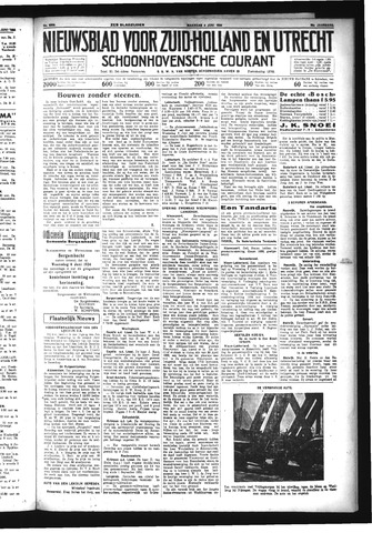 Schoonhovensche Courant 1934-06-04