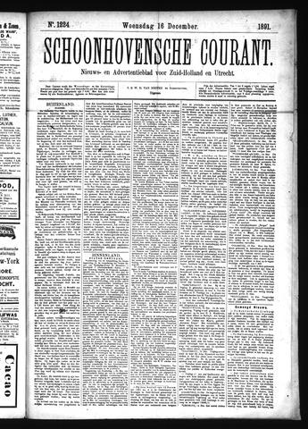 Schoonhovensche Courant 1891-12-16