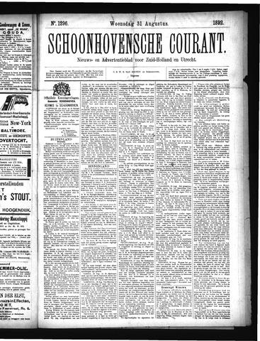 Schoonhovensche Courant 1892-08-31