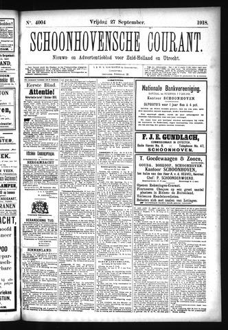 Schoonhovensche Courant 1918-09-27