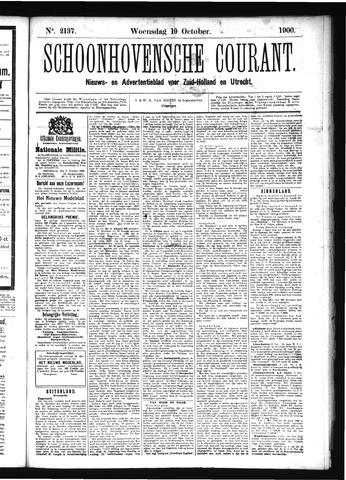 Schoonhovensche Courant 1900-10-10