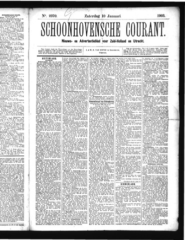 Schoonhovensche Courant 1903-01-10