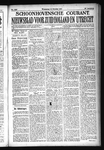 Schoonhovensche Courant 1927-10-12