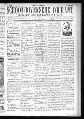 Schoonhovensche Courant 1925-04-24