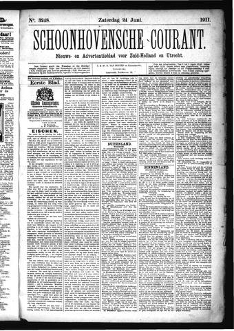 Schoonhovensche Courant 1911-06-24