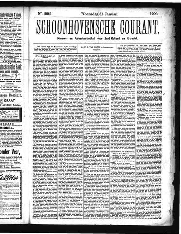 Schoonhovensche Courant 1900-01-31