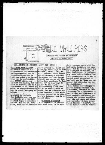 De Vrije Pers 1945-04-27