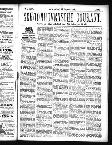 Schoonhovensche Courant 1896-09-30