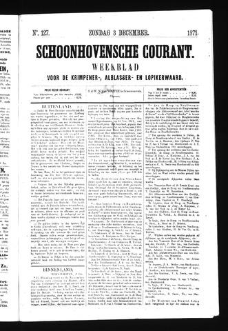 Schoonhovensche Courant 1871-12-03