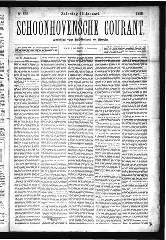 Schoonhovensche Courant 1886-01-16