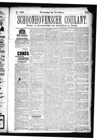 Schoonhovensche Courant 1910-11-30