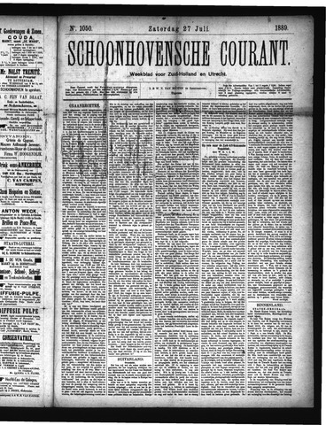 Schoonhovensche Courant 1889-07-27