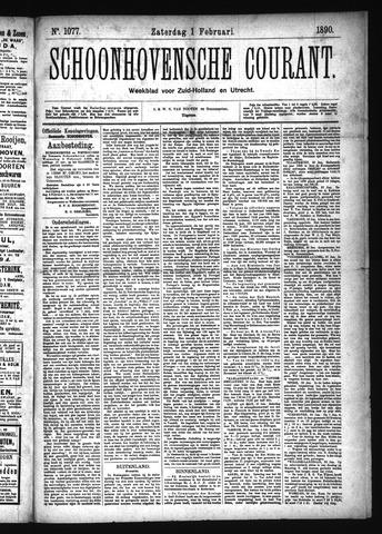 Schoonhovensche Courant 1890-02-01