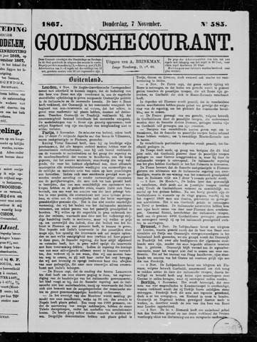 Goudsche Courant 1867-11-07