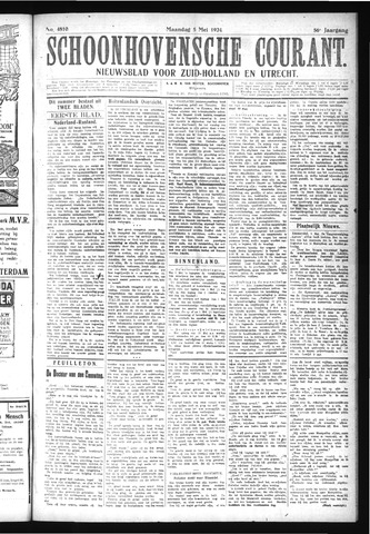 Schoonhovensche Courant 1924-05-05