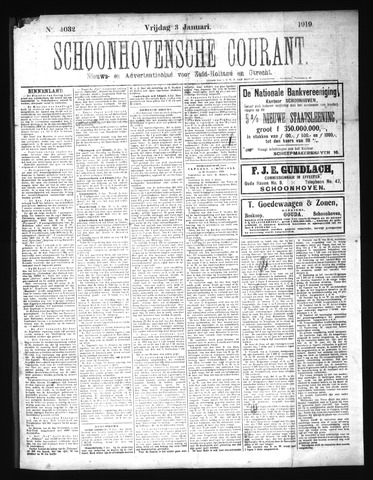Schoonhovensche Courant 1919