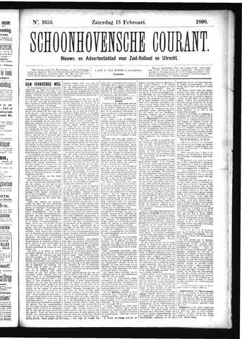 Schoonhovensche Courant 1896-02-15