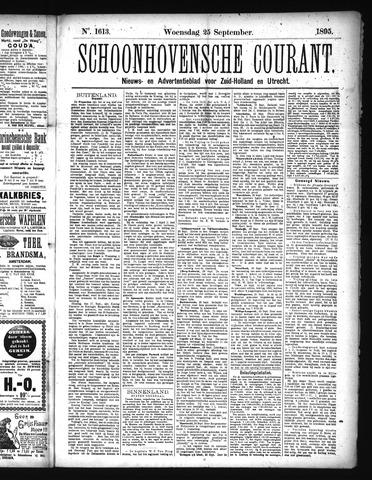 Schoonhovensche Courant 1895-09-25
