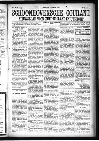 Schoonhovensche Courant 1926-08-13