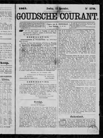 Goudsche Courant 1863-11-15