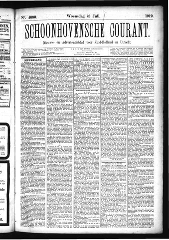 Schoonhovensche Courant 1919-07-23