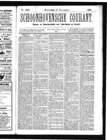 Schoonhovensche Courant 1905-11-15
