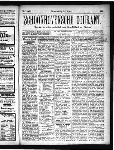 Schoonhovensche Courant 1912-04-24