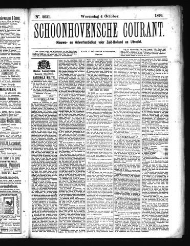Schoonhovensche Courant 1899-10-04