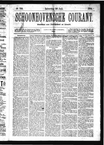 Schoonhovensche Courant 1884-07-26