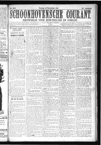 Schoonhovensche Courant 1924-11-28