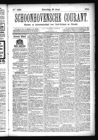 Schoonhovensche Courant 1914-06-20