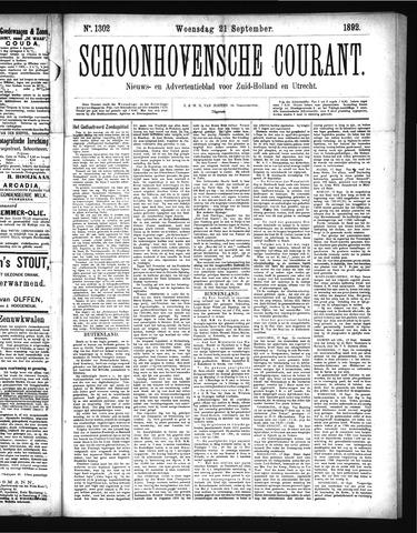 Schoonhovensche Courant 1892-09-21