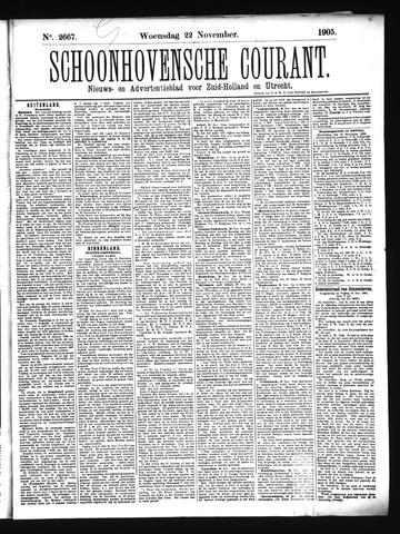 Schoonhovensche Courant 1905-11-22