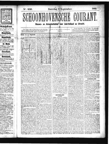 Schoonhovensche Courant 1900-09-08