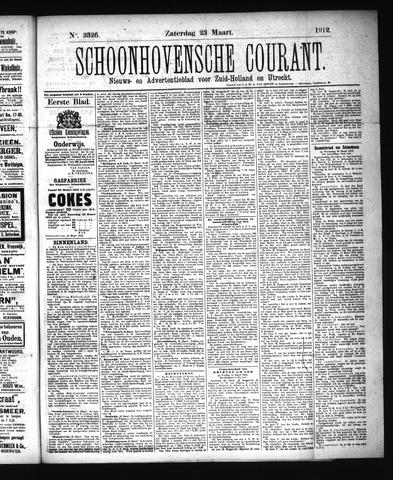 Schoonhovensche Courant 1912-03-23