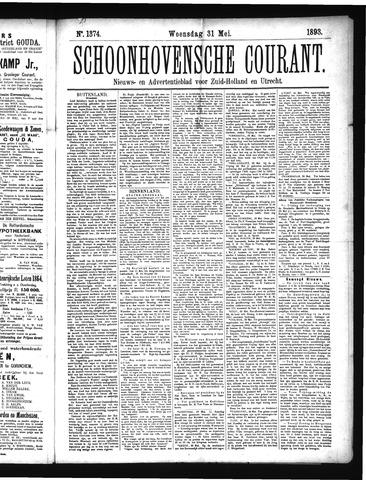 Schoonhovensche Courant 1893-05-31