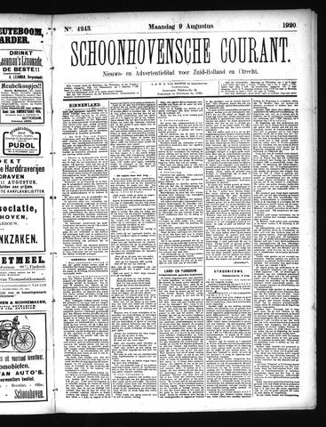 Schoonhovensche Courant 1920-08-09